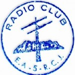 1º sello utilizado por el radio Club Montgó......